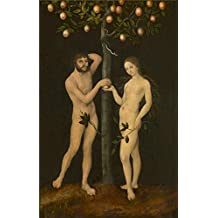 The high quality polyster Canvas of oil painting 'Lucas Cranach I - Adam and Eve, 1526' ,size: 10x16 inch / 25x40 cm ,this Vivid Art Decorative Canvas Prints is fit for Study decor and Home artwork and Gifts