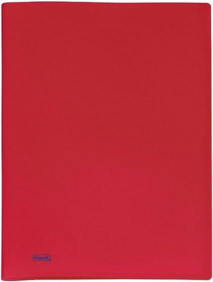 Portalistino Morbido da 40 Buste A4 Rosso