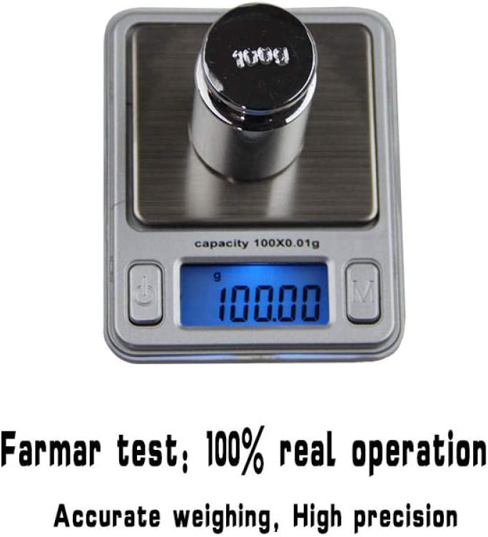 100g/0.01g Mini Electronic Weighing Tools Digital Portable Weight Scale for Jewelry High Precision Balanca Scales Look Like MP3-purple Black
