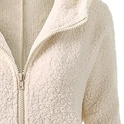 Ulanda Hooded Coat Womens Thicken Fleece Fur Warm Zipper Winter Coat Hoodie Parka Overcoat Jacket Outwear at Women's Coats Shop