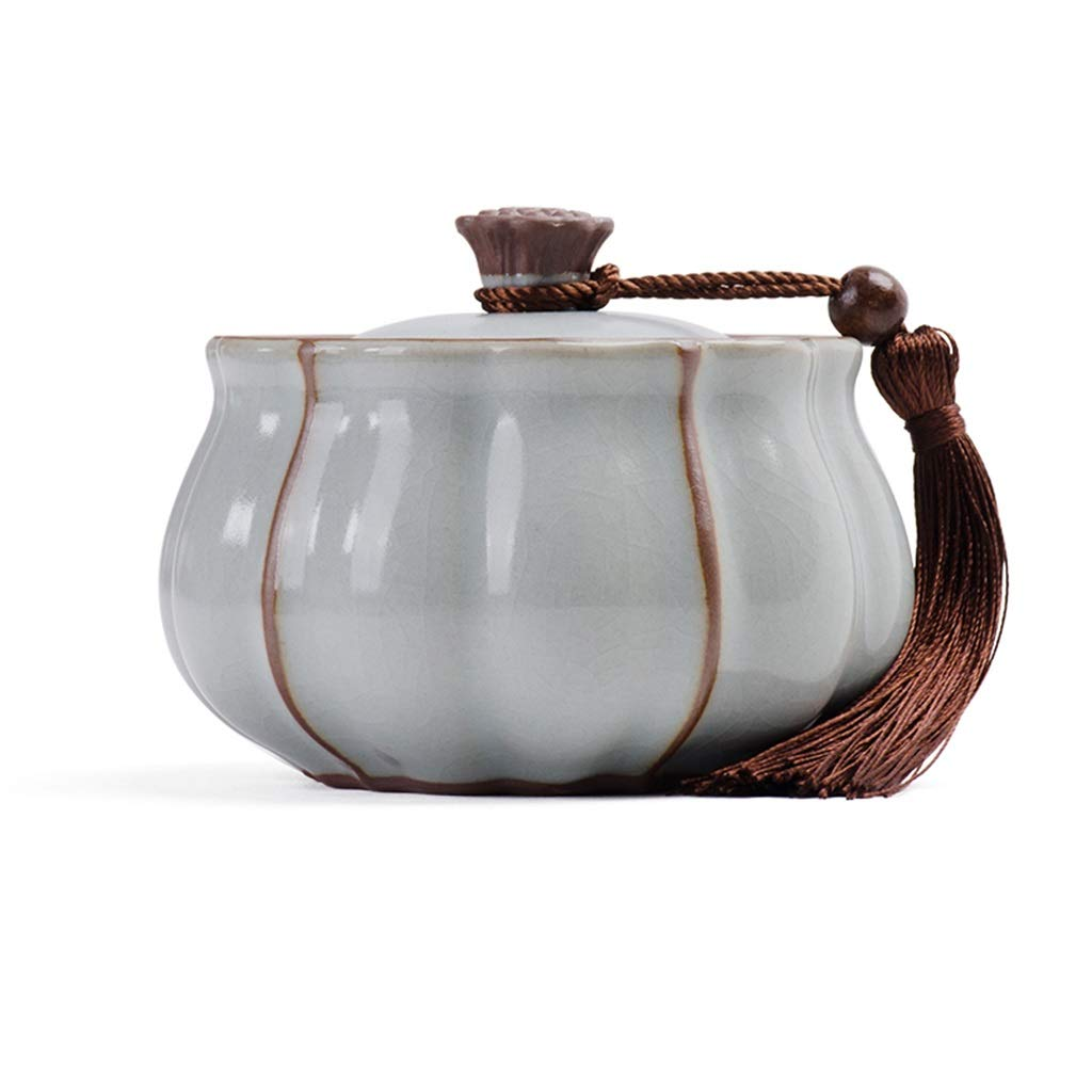 B M B M Keepsake Pet Cremation Urn,Dog Cat Container Jar Handmade Ceramics Pet Urns Funeral Coffin (color   B, Size   M)