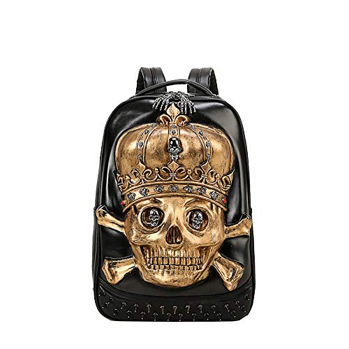 Realistic Portable 35l Pu Gold Animal Travel Rucksack 3d Mens Backpack 20 Computer Fzhly Skull Bag Quality High Shoulder WaxqYwnzH