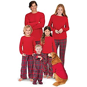 PajamaGram Family Christmas Pajamas Set – Cotton Flannel, Plaid