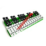 Green 27 Key Chromatic Glockenspiel Xylophone with Free Beaters