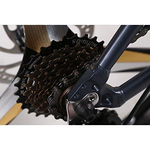YEARLY Adultos bicicleta plegable, Bicicleta plegable estudiante Aleación de aluminio Shimano Velocidad 7 Frenos de disco doble Hombres y mujeres Bicicleta ...