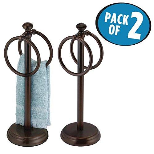 bathroom towel stand countertop - 7