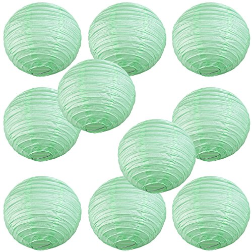 WYZworks-Round-Paper-Lanterns-10-Pack-Seafoam-Green-10-with-8-10-12-14-16-option