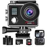 Action Cam,Campark 4K Sport Camera Wifi Underwater Camera Helmet Camera 170° Wide Angle with 32GB Class 10 Memory Card,2.4G Remote Control,Time Lapse and Slow Motion