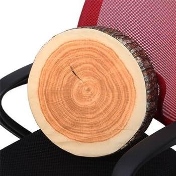 Log-shaped Head Rest Pillow Decorative Wood Columns Novelty 36 x 17.8cm