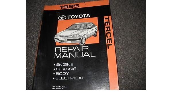1995 Toyota Tercel Shop Service Repair Manual Book