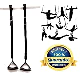 Power OLYMPIC Gymnastics Handles Pull-Ups Hanging Gym Straps/Handles for Men/Women, AB Handles, Pull Up Handles With Adjustable Hanging Strap's, Pull-ups Chinning Bar Attachment Universal Fitting