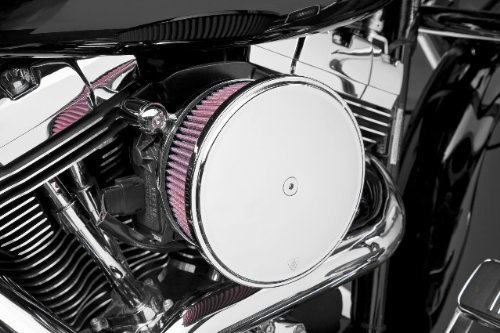Road Two Stage Air Filter (2012 Harley Davidson FLTRX Road Glide Custom Billet Sucker Stage II Air Filter Kit with Steel Cover - Smooth Chrome - Red Filter, Manufacturer: Arlen Ness, BIG SUCKER STG2, STL SMTH)