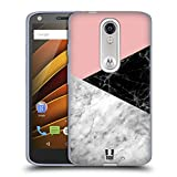 Head Case Designs Colour Blocking Marble Trend Mix Soft Gel Case for Motorola Moto X Play