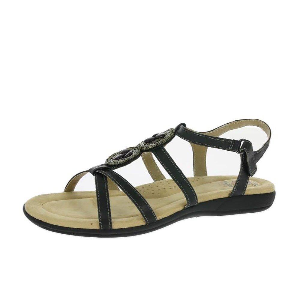 ad41efb2b3945 Earth Spirit Inglewood Ladies Leather Strappy Sandals Black UK 9   Amazon.co.uk  Shoes   Bags