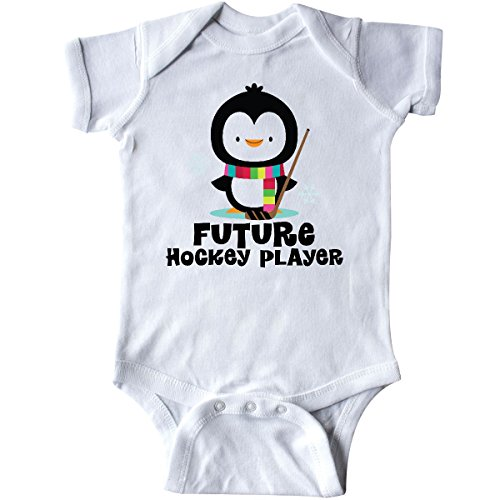 inktastic - Future Hockey Player Penguin Infant Creeper 6 Months White 1bfba