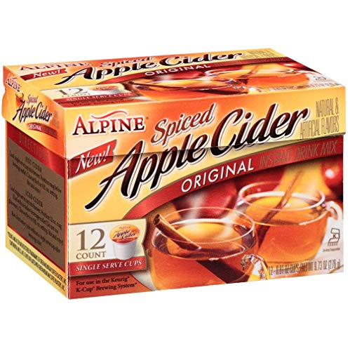 (Alpine Spiced Apple Cider Original Instant Drink Mix, 12-Count .81-Ounce Cups(Total of 9.72-Oz))