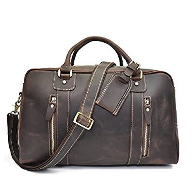 Bag Leather Travel Men Duffel Overnight Duffle Women Luggage Gym Weekend Tote