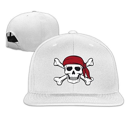 CEDAEI Pirate Flat Bill Snapback Adjustable Running Caps Hats (Panama Jack Stretch Hat)