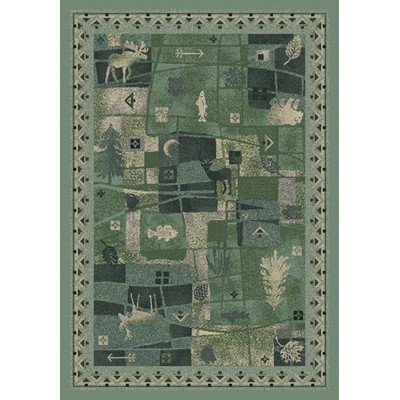 Milliken Signature Deer Trail Peridot Novelty Rug Square 7'7
