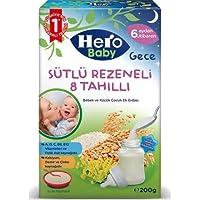 Hero Baby Gece Sütlü Rezeneli 8 Tahıllı Kaşık Maması 200 gr
