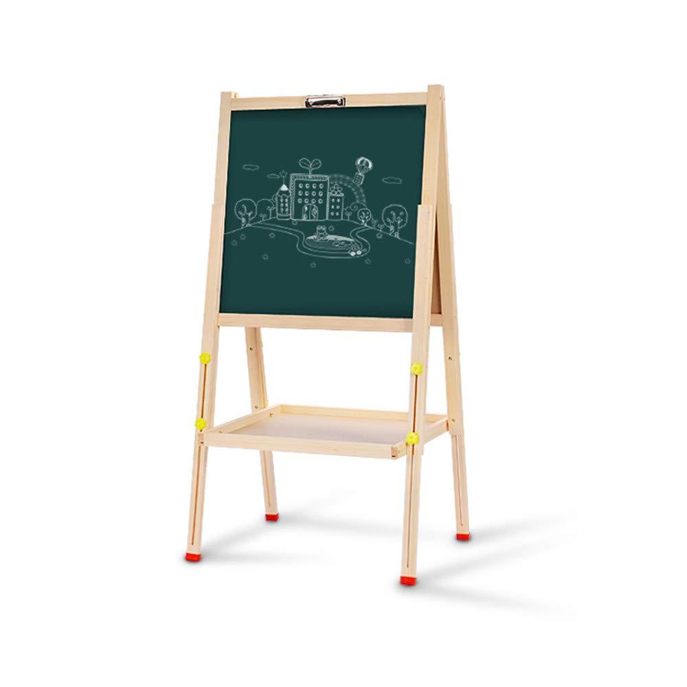 Cavalletto d'arte verdeicale di lusso Schede per bambini Schermi a due lati Piattaforma magnetica per ponteggi Pieghevole in legno che eleva lavagna in legno Camera da letto per bambini in legno a dopp