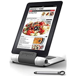 Prepara, White iPrep Adjustable Stand for phones, tablets, e-readers, Large