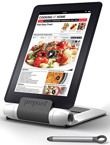 Prepara PP08-PREPWT White iPrep Adjustable Stand for Phones, Tablets, e-Readers, Large,