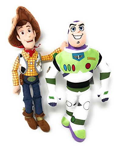 Disney Toy Story Buzz Lightyear and Woody Plush Bundle ()