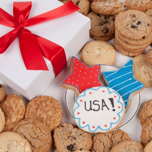 - Patriotic Signature Cookie Gift Box- 12 Pc. by Lady Fortunes