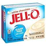 Jell-O Sugar-Free Instant Pudding and Pie Filling, White Chocolate, 1-Ounce Boxes (Pack of 6)