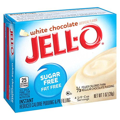 Instant Chocolate Pudding (JELL-O Sugar Free Fat Free Instant Pudding & Pie Filling Mix, White Chocolate, 1 Ounce (Pack of 6))