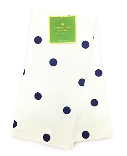 Amazon Com Kate Spade New York French Navy Polka Dot Kitchen Towel