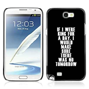 Designer Depo Hard Protection Case for Samsung Galaxy Note 2 N7100 / Deep Message