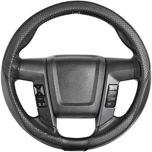 [해외]SEG Direct Car Steering Wheel Cover Large-Size for F150 F250 F350 Ram 4Runner Tacoma Tundra Range Rover?with 15 12-16 Outer Diameter LeatherArgyle Black / SEG Direct Car Steering Wheel Cover Large-Size for F150 F250 F350 Ram 4Runne...