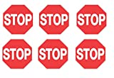 VOSS SIGNS Red Plastic Reflective Trail Sign 12'' Stop (6)