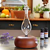 Aromatherapy Diffuser - Professional Grade - Wood and Glass (Orbis Nox Merus)