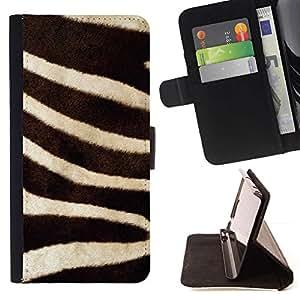 For LG G2 D800 Case , Rayas Negro Blanco de la naturaleza animal- la tarjeta de Crédito Slots PU Funda de cuero Monedero caso cubierta de piel