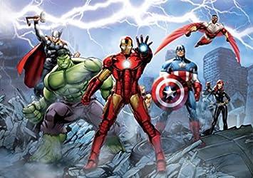 Avengers Poster Papier Peint Iron Man Captain America Hulk Et