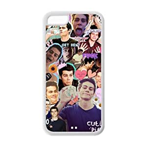 Dylan O'Brien Durable TPU Protective Cover Case For iphone 5c (Black, White)