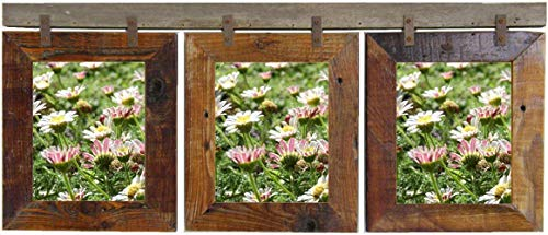 - Montana Vertical Conestoga Multi Frame 3 Opening Picture Collage for (3) 8x10 Photos, Rustic Farmhouse Wooden Multiframe. AllBarnwood