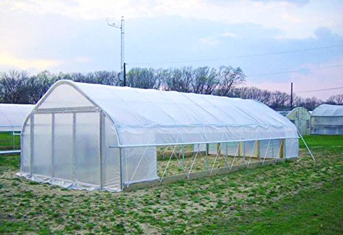 Agfabric 6ft wide x16ft long greenhouse clear plastic film for Homemade greenhouse plastic