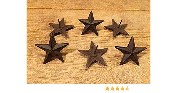 "Cast Iron Star Nails Medium 2 3//4/"" wide Set of 6 Craft Decor 0170-02112"