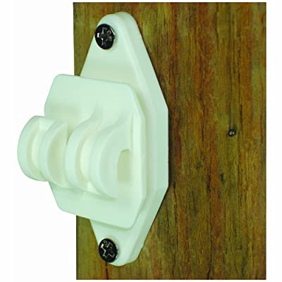 Field Guardian 100-Pack Wood Post Nail on Insulator for Hi-Tensile, White
