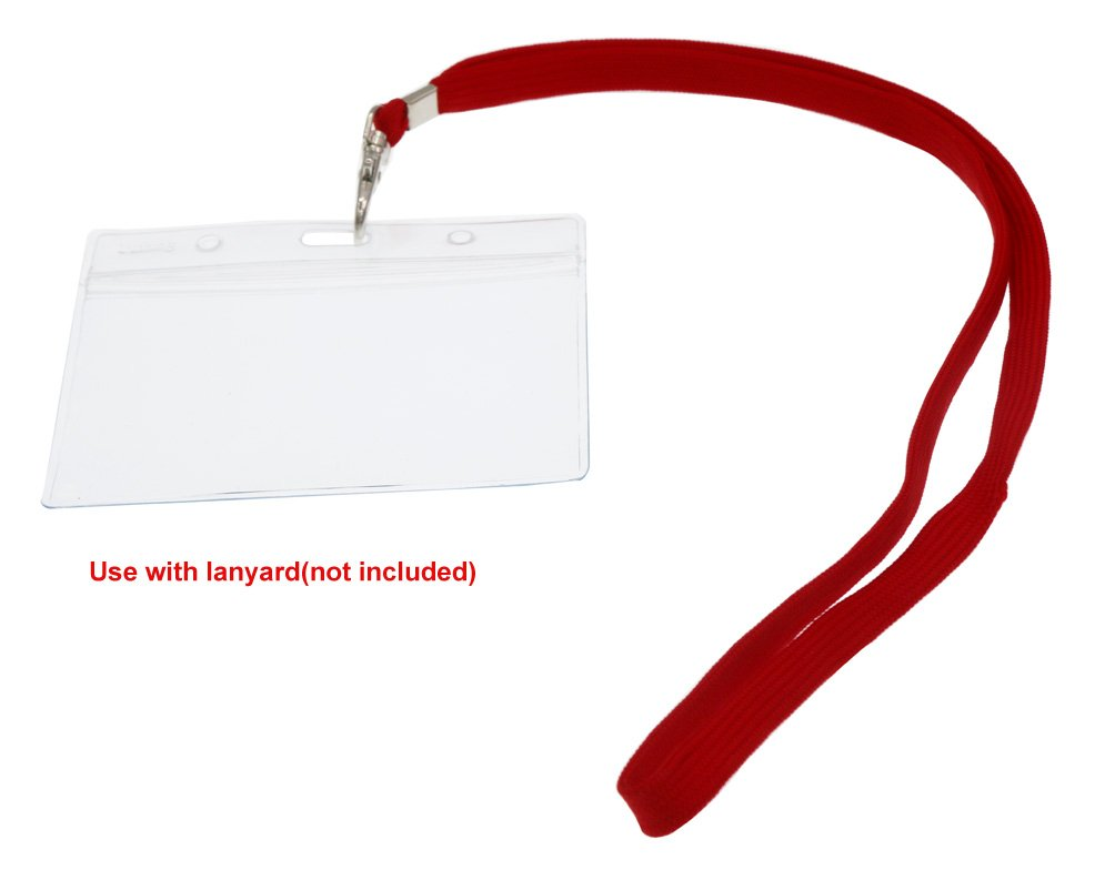 Fushing 10 Pezi Cancella Impermeabile Distintivo di plastica titolari Nome Tag Possessori di Contrassegno di carta di Identificazione