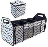 INNO STAGE Car Trunk Organizer with Insulated Cooler Bag - Collapsible Storage Basket Front or Backseat with Compartments for Emergency Supplies or Shopping Best Gift
