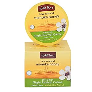 Wild Ferns - New Zealand Manuka Honey - Ultra Rich Night Revival Creme - 100ml