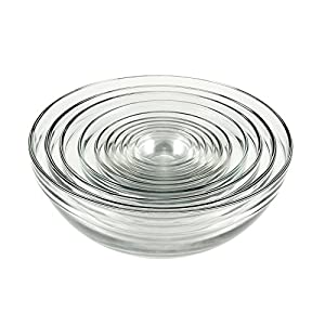 Best Epic Trends 516qPjJGFtL._SS300_ Anchor Hocking Glass Mixing Bowls, Mixed, Set of 10