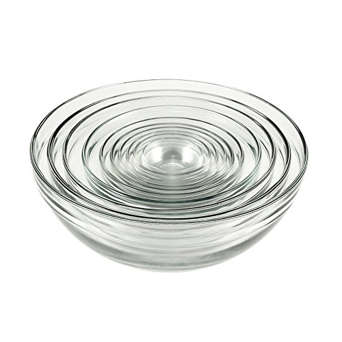 Anchor Hocking Glass Bowl Set - 10 pcs (Kitchen Glass Mixing Bowl)