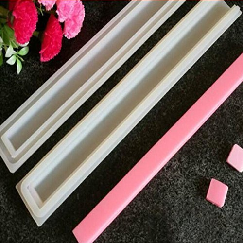 Silicone Cake Mold,DIY Long Tube Mousse Dessert Silicone Mold Square Plum Moon Heart Haped Five Pointed Star Handmade Candle Soap Template Baking Mould, Cake Decorating Tool,Kitchen Craft ()