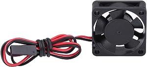 V GEBY Motor Cooling Fan, 5V-7V DC Cooling Fan RC Motor Heat Sink System Black DC Fan Car Parts (2525MM)